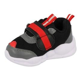 Befado obuwie dziecięce  516P096 czarne czerwone 1