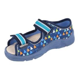 Befado obuwie dziecięce  869X164 niebieskie 1