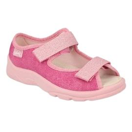 Befado obuwie dziecięce  869X162 różowe 1