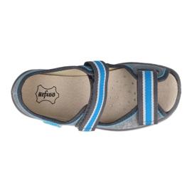 Befado obuwie dziecięce  869X157 niebieskie szare 1