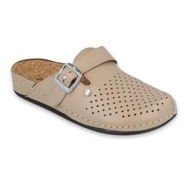 Inblu klapki obuwie damskie  158D176 beżowy 1