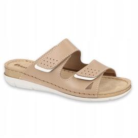 Inblu klapki obuwie damskie  158D171 beżowy 1