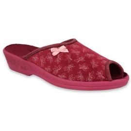 Befado obuwie damskie pu 581D197 czerwone 1
