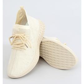 Buty sportowe skarpetkowe beżowe PC01 LT.BEIGE beżowy 1