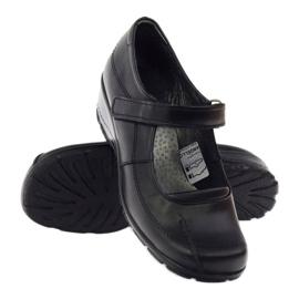 Angello Komfortowe Czółenka na Koturnie czarne 371 3