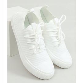 Trampki damskie skarpetkowe białe PC06P White 1
