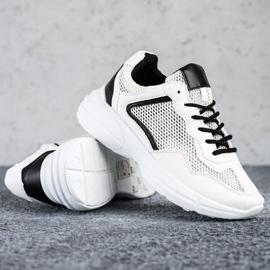 SHELOVET Sneakersy Z Siateczką białe 1