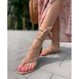 Seastar Wiązane Sandały Z Cyrkoniami złoty 4