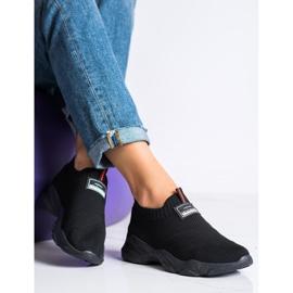 SHELOVET Czarne Wsuwane Sneakersy Fashion 2