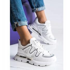 SHELOVET Białe Sneakersy Fashion 3