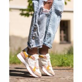 SHELOVET Kolorowe Sneakersy białe wielokolorowe 1