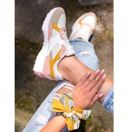 SHELOVET Kolorowe Sneakersy białe wielokolorowe 5