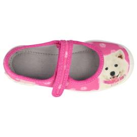 Befado obuwie dziecięce  114X456 różowe 1