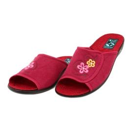 Klapki damskie kapcie Adanex 24625 czerwone różowe 3