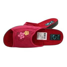 Klapki damskie kapcie Adanex 24625 czerwone różowe 4