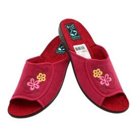 Klapki damskie kapcie Adanex 24625 czerwone różowe 5