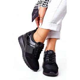 Sneakersy Na Koturnie Vinceza 10606 Czarne 2