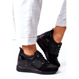 Sneakersy Na Koturnie Vinceza 10606 Czarne 3