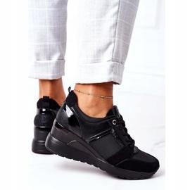 Sneakersy Na Koturnie Vinceza 10606 Czarne 4