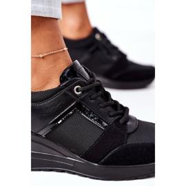 Sneakersy Na Koturnie Vinceza 10606 Czarne 5