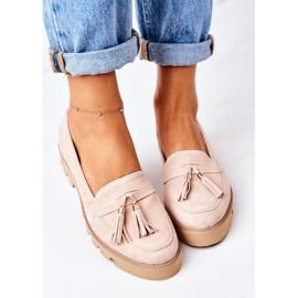 Zamszowe Mokasyny Lewski Shoes 3053 Cappuccino beżowy 2