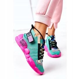 PS1 Damskie Sportowe Buty Sneakersy Zielone Bubble Tea różowe 2