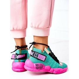 PS1 Damskie Sportowe Buty Sneakersy Zielone Bubble Tea różowe 6