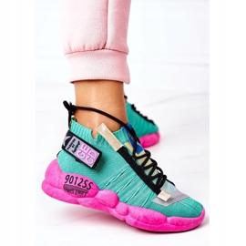 PS1 Damskie Sportowe Buty Sneakersy Zielone Bubble Tea różowe 4