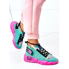 PS1 Damskie Sportowe Buty Sneakersy Zielone Bubble Tea różowe 1