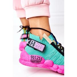 PS1 Damskie Sportowe Buty Sneakersy Zielone Bubble Tea różowe 5