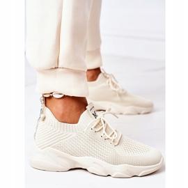 PS1 Damskie Sportowe Buty Sneakersy Beżowe Fashion beżowy 4