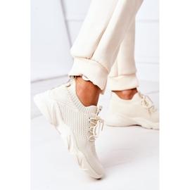 PS1 Damskie Sportowe Buty Sneakersy Beżowe Fashion beżowy 5