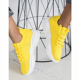 SHELOVET Klasyczne Tekstylne Sneakersy żółte 2