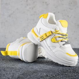 SHELOVET Białe Sneakersy Fashion 1