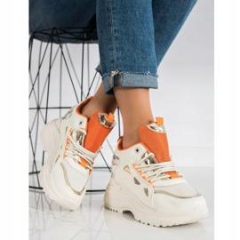 Marquiz Sneakersy Fashion beżowy 3