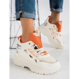 Marquiz Sneakersy Fashion beżowy 1