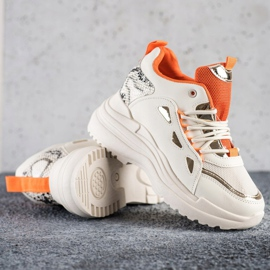 Marquiz Sneakersy Fashion beżowy 2