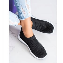 SHELOVET Wsuwane Sneakersy czarne 1