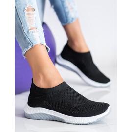 SHELOVET Wsuwane Sneakersy czarne 3