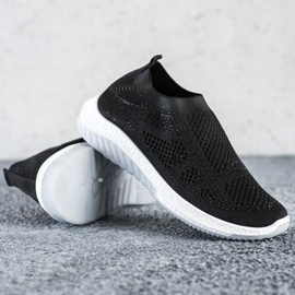 SHELOVET Wsuwane Sneakersy czarne 2