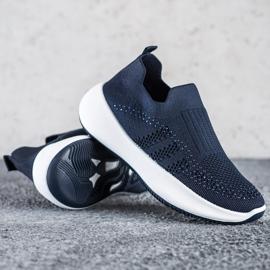 Renda Wsuwane Sneakersy Z Kryształkami niebieskie 1