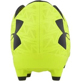Buty piłkarskie Under Armour Force 3.0 Fg żółte żółte 4