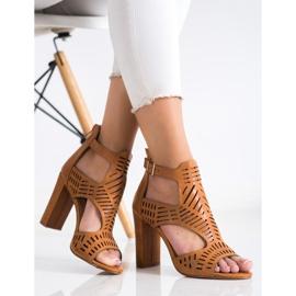 Renda Ażurowe Sandały Fashion brązowe 1