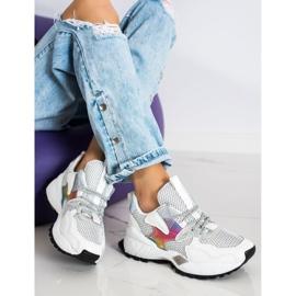 SHELOVET Sneakersy Z Siateczką Fashion białe 1