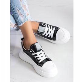 SHELOVET Trampki Fashion Na Platformie czarne 3