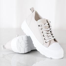 Sabatina Modne Sneakersy Na Platformie beżowy 1