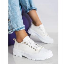Sabatina Modne Sneakersy Na Platformie beżowy 3
