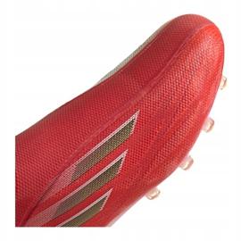 Buty piłkarskie adidas X Speedflow+ Ag M FY6872 czerwone czerwony, pomarańczowy, white 3