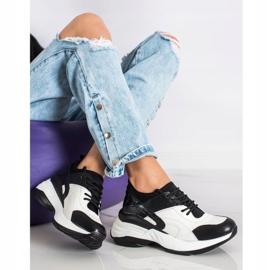 Melisa Wiązane Klasyczne Sneakersy białe czarne 1