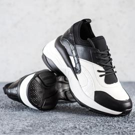 Melisa Wiązane Klasyczne Sneakersy białe czarne 2